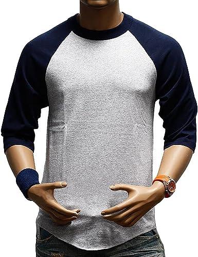 SBOYS Camiseta de béisbol para Hombre, Estilo Informal, Ajuste Regular Raglan, Manga 3/4, Camisetas Henley Baseball T Shirt 6 3XL: Amazon.es: Ropa y accesorios