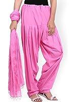 Women Cotton Solid Patiala Salwar Dupatta Set (Free Size)