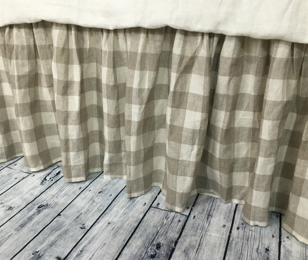 Image of Buffalo check bed skirt, Country bed skirts, Plaid bed skirt, Drop from 13-24' or custom size. HANDMADE, FREE SHIPPING Home and Kitchen