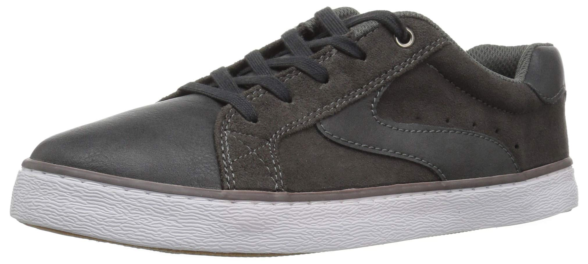 The Children's Place Boys' Low Top Sneaker, Nordic Gray, Youth 11 Child US Little Kid