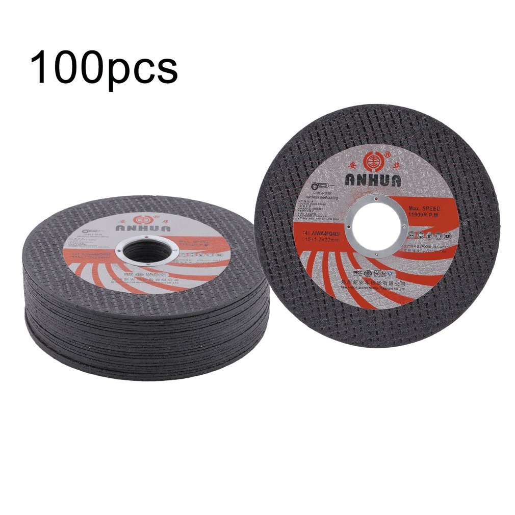 GOGOUP 115mm Aluminum Oxide Grinding Wheels Cutting Carbon Steel Stainless Steel Aluminum or Metal for Building Industry(100pcs)