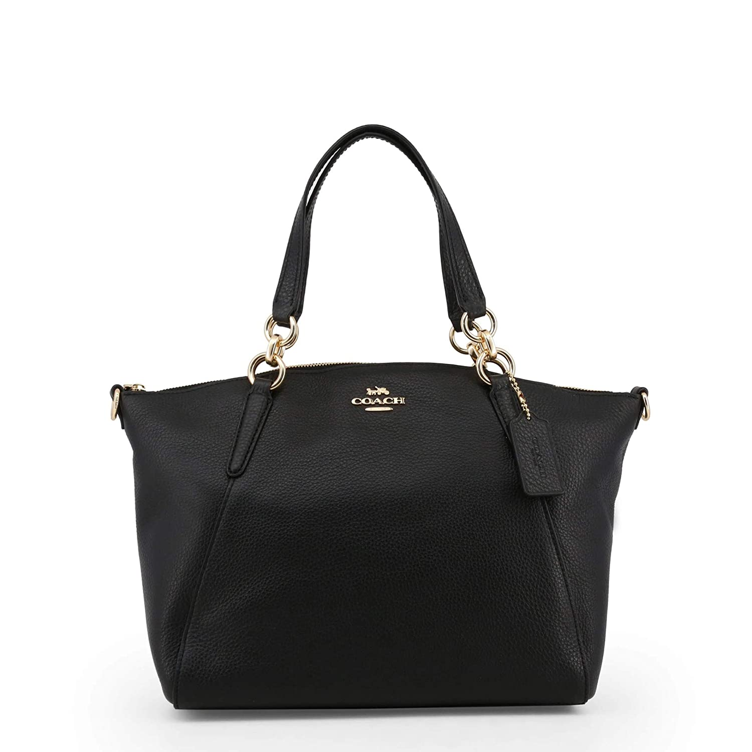 91d0025c5d56b Amazon.com: Coach 36625 Pebble Leather Small Kelsey Satchel Black: Shoes