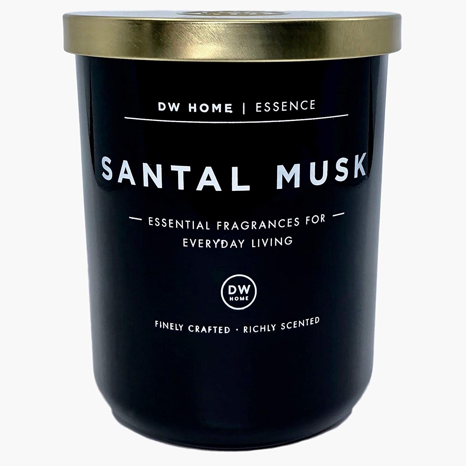 DW Home Large Santal Musk Scented Soy Wax Blend Candle Essential Fragrances for Everyday Living