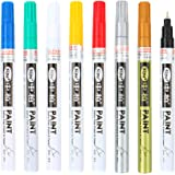 DDAYUP Extra Fine Point Paint Marker Non-toxic Permanent Marker Pen,Oil-Base 8 Colors,0.7mm