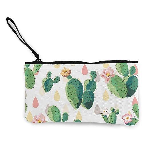 6dd083a054da Pink Cactus Flowers Unisex Canvas Coin Purse Change Cash Bag Zipper ...