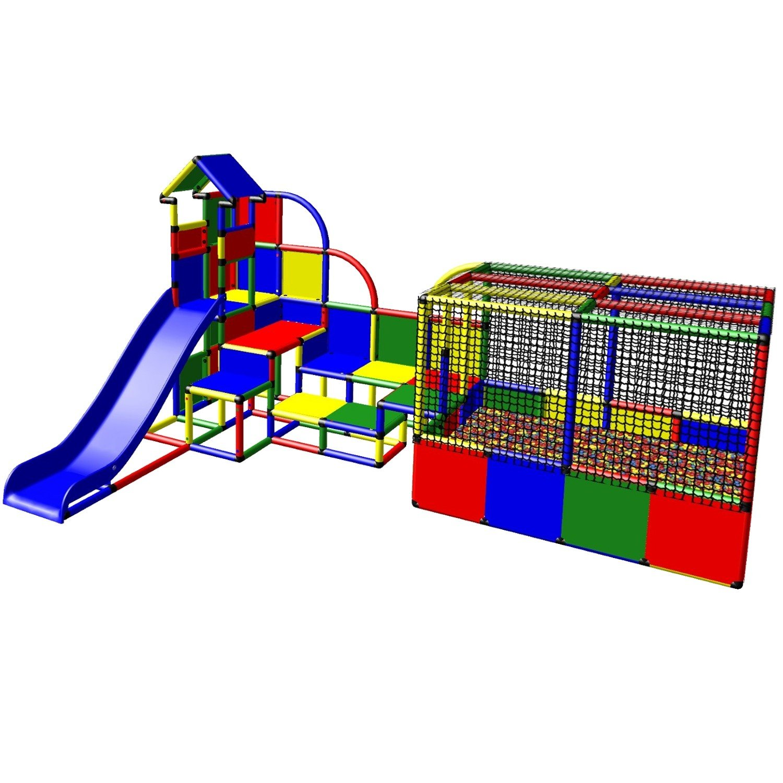Moveandstic 6005 - großer Spielturm Emma mit Bällebad und Rutsche move and stic