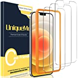 [3 Pack] UniqueMe Screen Protector Compatible with iPhone 12 Pro/iPhone 12 6.1 inch Tempered Glass 5G [Easy Installation Fram
