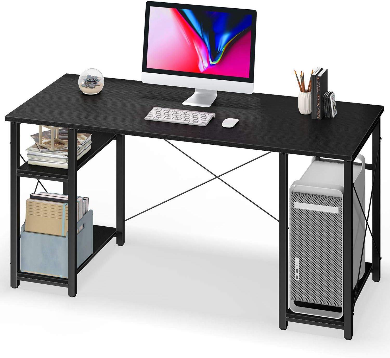Computer Desk with Shelves,55