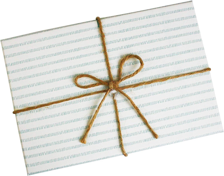 Blaue Streifen Box mit Wei/ßem Streifen Deckel Emartbuy Set von 3 Starrer Luxus Rechteck Pr/äsentation Geschenkbox Braunes Schleife und Kariertes Wei/ßes Innenraum