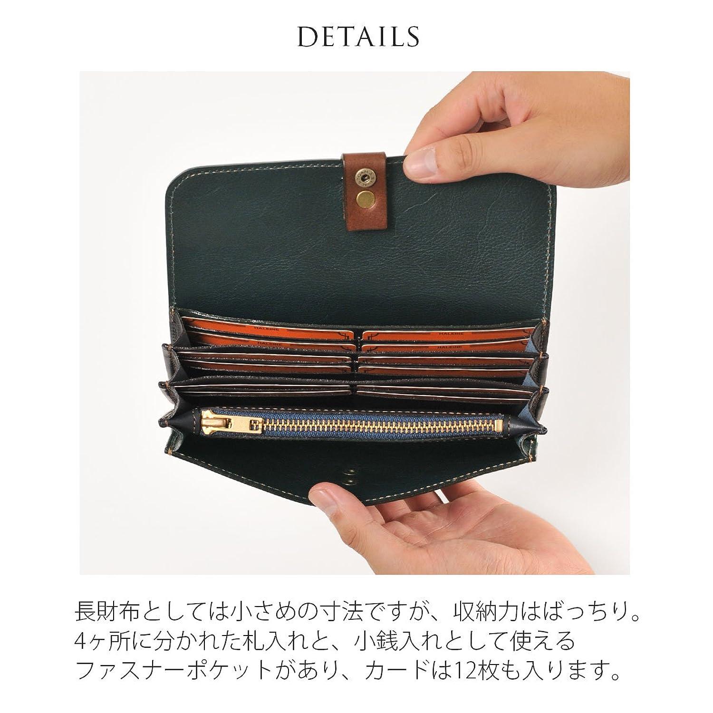 6b15eda890ef Amazon   [ HALEINE ] 長財布 牛革 レザー 本 革 レディース 日本製 フラップ かぶせ : レッド   三京商会   財布
