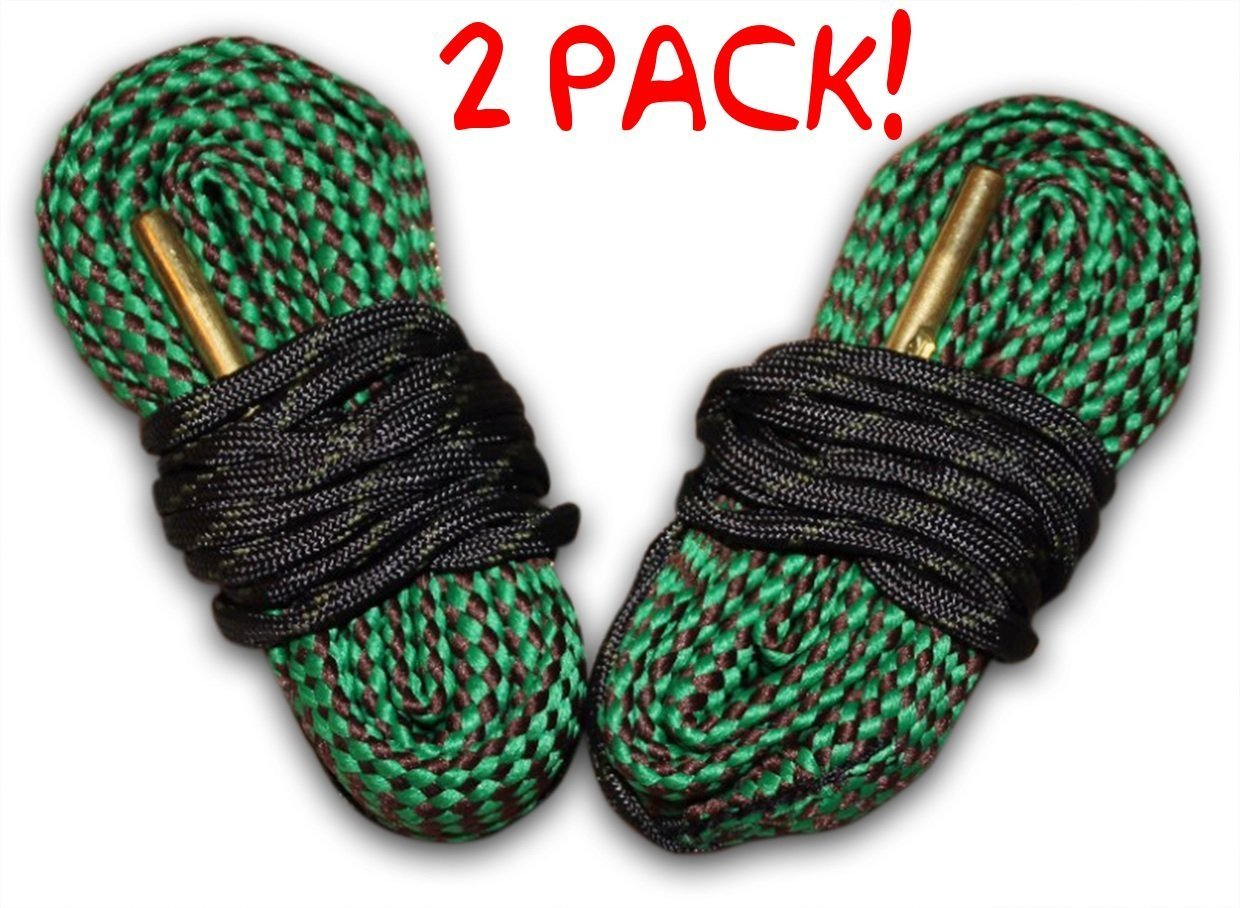 Cobra 243 Caliber Bore Snake Pack Of 2 - Cleans Your Rifle Barrel Quick And Easy - Washable In Minutes Ships From The USA