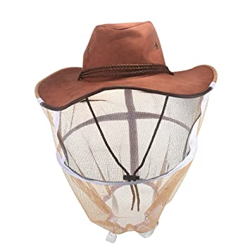 ONEVER Sombrero de Abeja - Sombrero de Velo de Apicultura Protector Casco de Sombrero Anti-