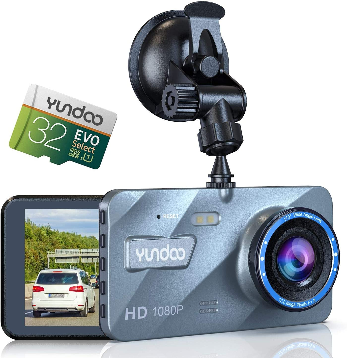 Dash Camera for Cars - Full HD 1080P Dash Camera for Cars,4 Inch IPS Screen Wide-Angle Lens Car Camera,G-Sensor ,WDR Technology,Loop Recording,Parking Monitoring.(2020 Version)