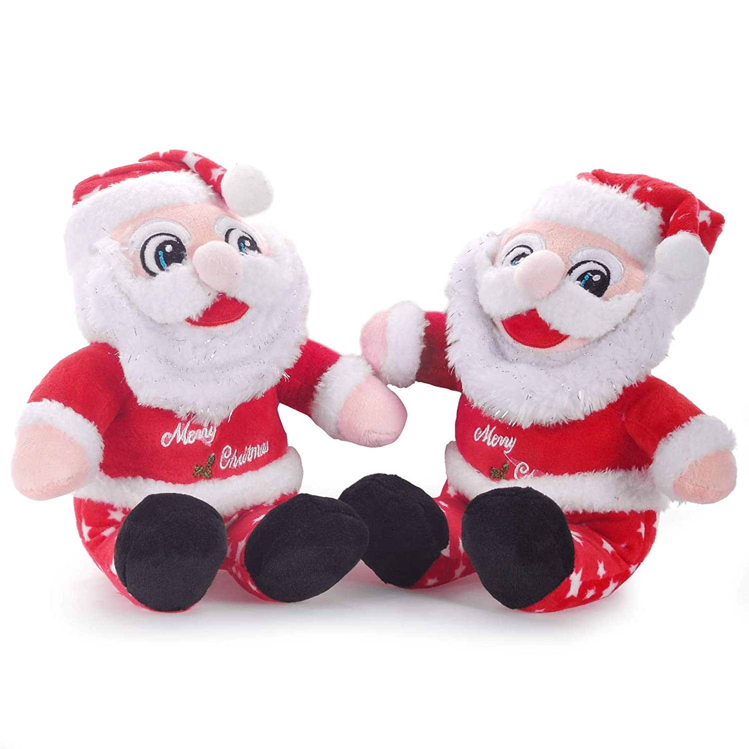 Lazada Christmas Santa Claus Stuffed Plush- Christmas Decorations Christmas Toys Gift for Children- 8.5inches 2PCS