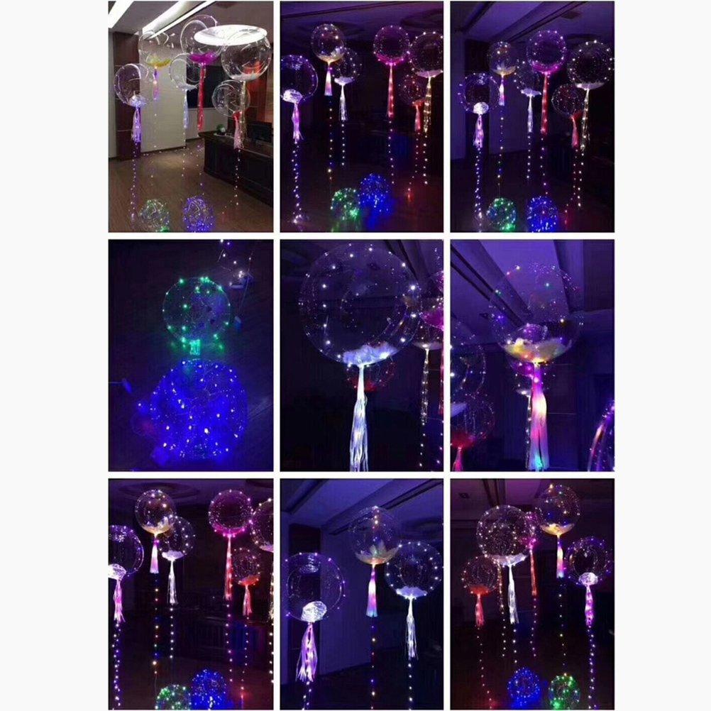 colorida globos de luz de 18 pulgadas Rellenar con helio para flotar durante el cumplea/ños Boda de Navidad Decoraci/ón de fiesta de Halloween LEDMOMO Globos LED de fiesta ligera