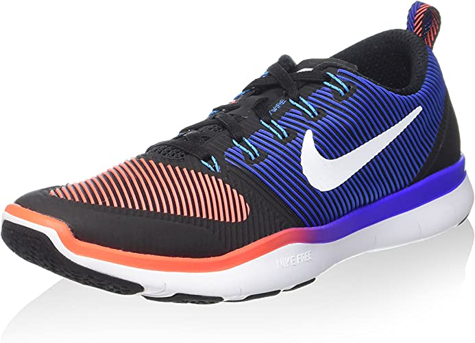 Nike Free Train Versatility Mens Running Trainers 833258 Sneakers Shoes Us 8 Black White Total Crimson 016 Road Running