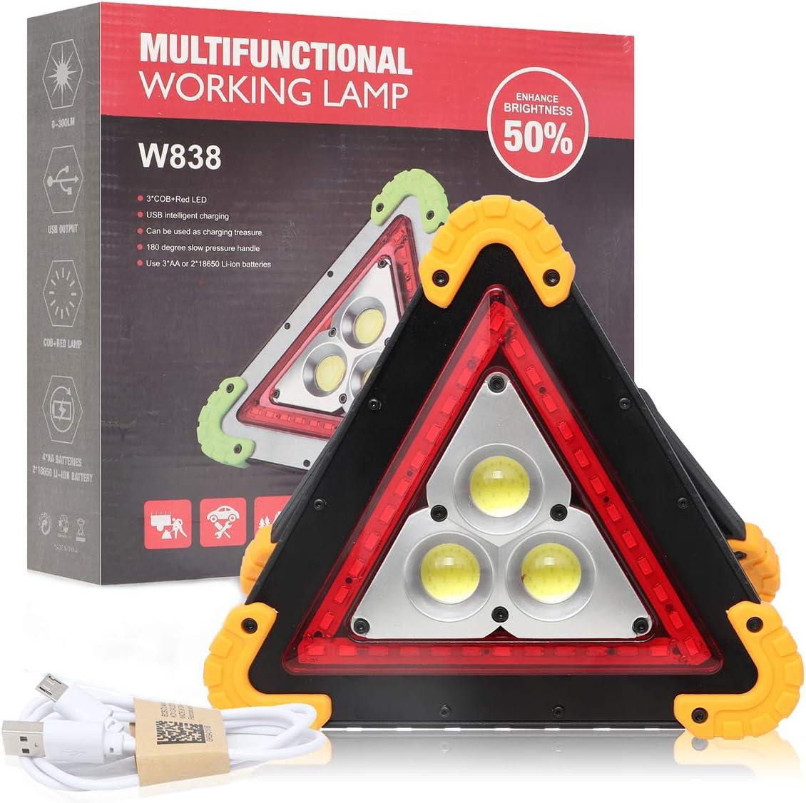 Dreieck Arbeitslicht Lemonbest 30w Notfallwarnlampe Usb Wiederaufladbar Für Auto Home Notfallwarnlampe Pack Of 1x Auto