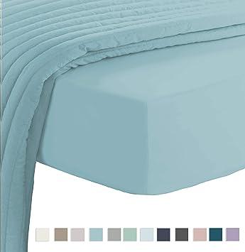 Pizuna 400 - Sábana bajera ajustable de algodón (150 x 200 cm, 100 ...