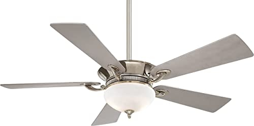 Minka-Aire F701-PN, Delano, 52 Ceiling Fan with Light Wall Control, Polished Nickel