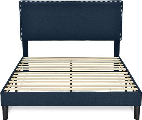 Allewie Queen Size Bed Frame Upholstered Platform Bed