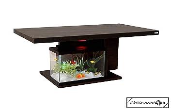 Table Basse Design Moderne Otentik 27 Led Aquarium Avec