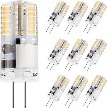 10Pcs G4 Halogen Bulb Super Bright Halogen Lights Lamp AC//DC 12V JC Type 5W-50W