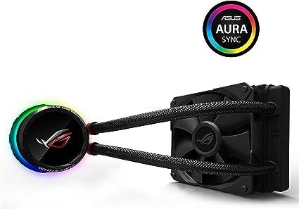 ASUS ROG RYUO 120 - Sistema de refrigeración líquida de CPU, con OLED de Color, Aura Sync RGB, Tubo de Goma Reforzado de 38 cm, Ventilador optimizado: Asustek: Amazon ...