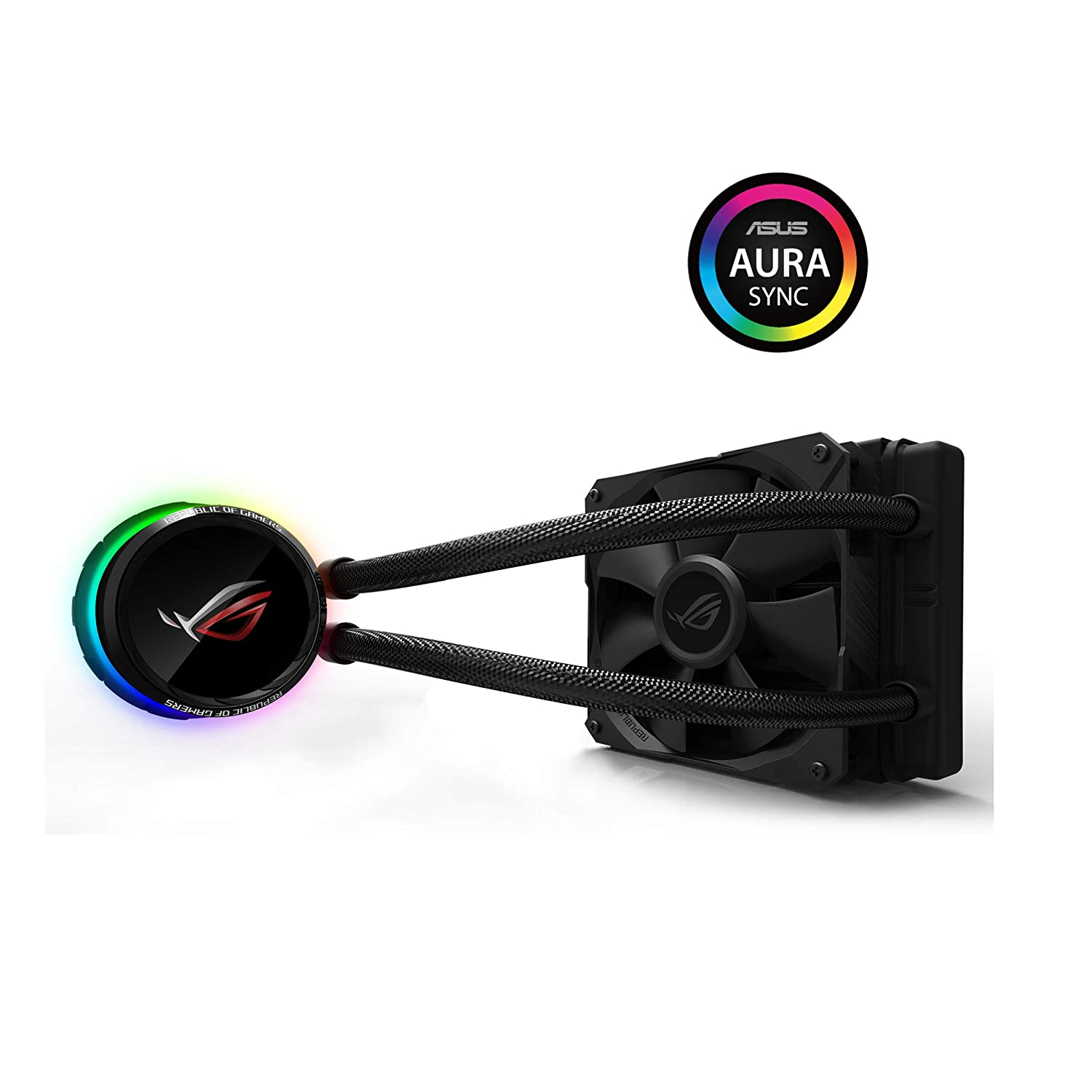 ASUS ROG Ryuo 120 CPU Cooler with OLED Display and Aura Sync - Black