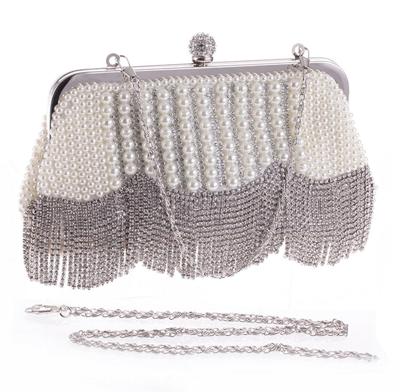 Abless Womens Glamour Elegant Evening Clutch Fashion Purse Chain Handbag - SK701
