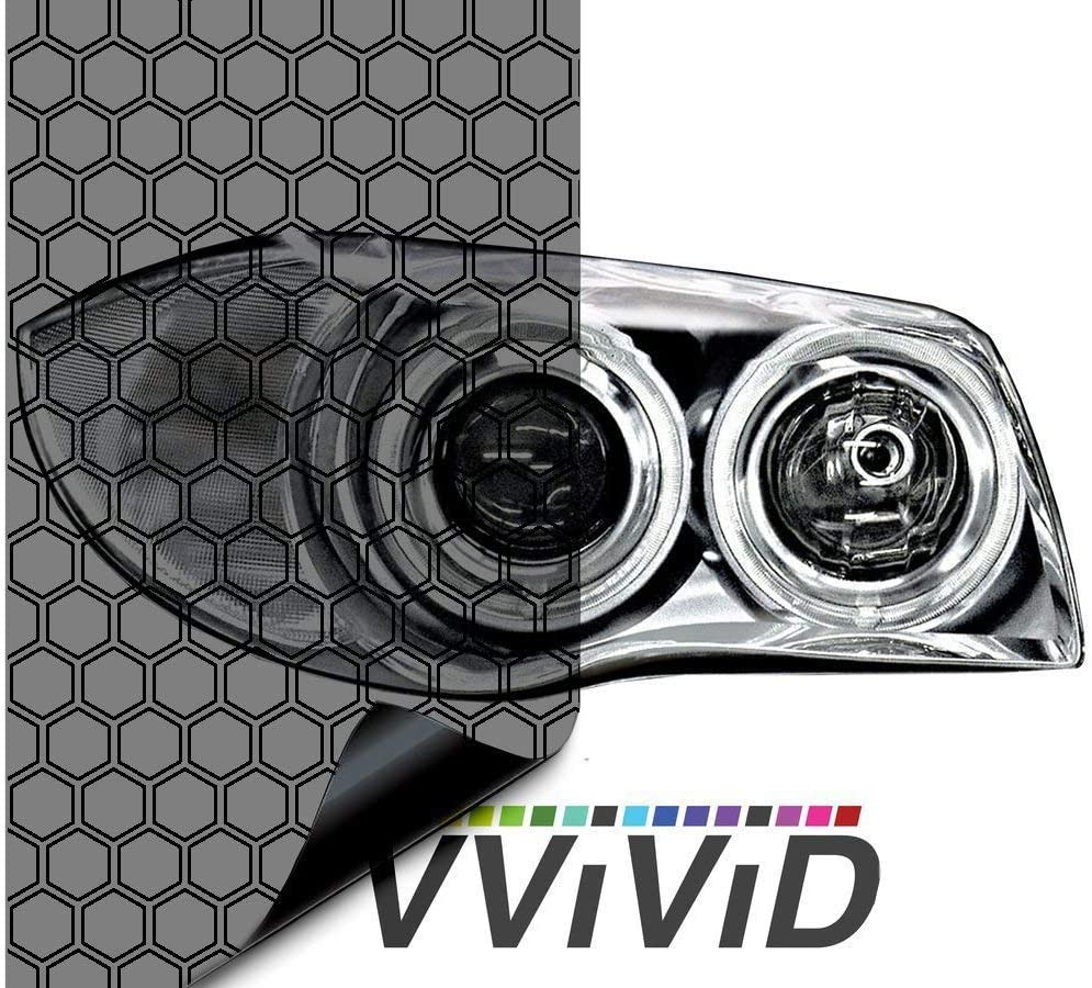 2 Sheets 12 x 30 VViViD Hex+ Air-Tint Light Headlight Vinyl