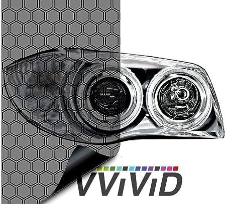 VViViD Hex Dark Smoke High Gloss Air-Tint Headlight Vinyl 17.9 Inches x 60 Inches Roll