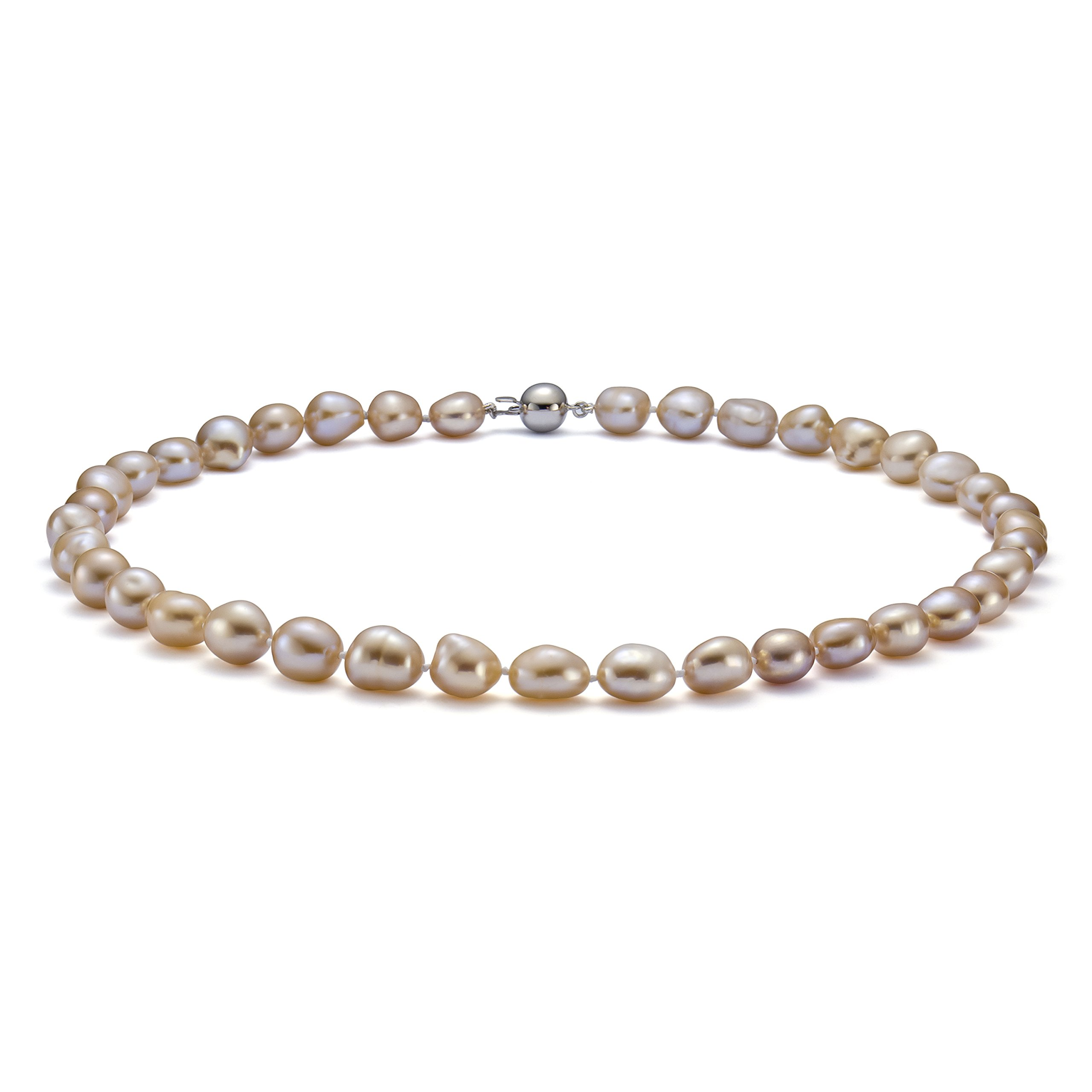 HinsonGayle AAA Handpicked 10-11mm Pink Baroque Freshwater Cultured Pearl Necklace (Silver )-18 in length by HinsonGayle Fine Pearl Jewelry (Image #5)