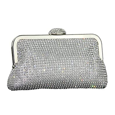 Sparkly Evening Bag, Womens Rhinestone Glitter Clutch Bag Gold Silver Black  Diamante Encrusted Party Wedding 2262fee81b