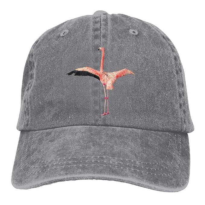 ac710b26f9b Flamingo Printing Adjustable Baseball Cap Hats Men Women Adult at ...