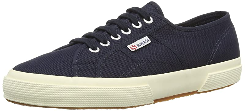 Superga 2750 Cotu Classic Sneakers Low-Top Unisex Damen Herren Blau (Navy Blue)