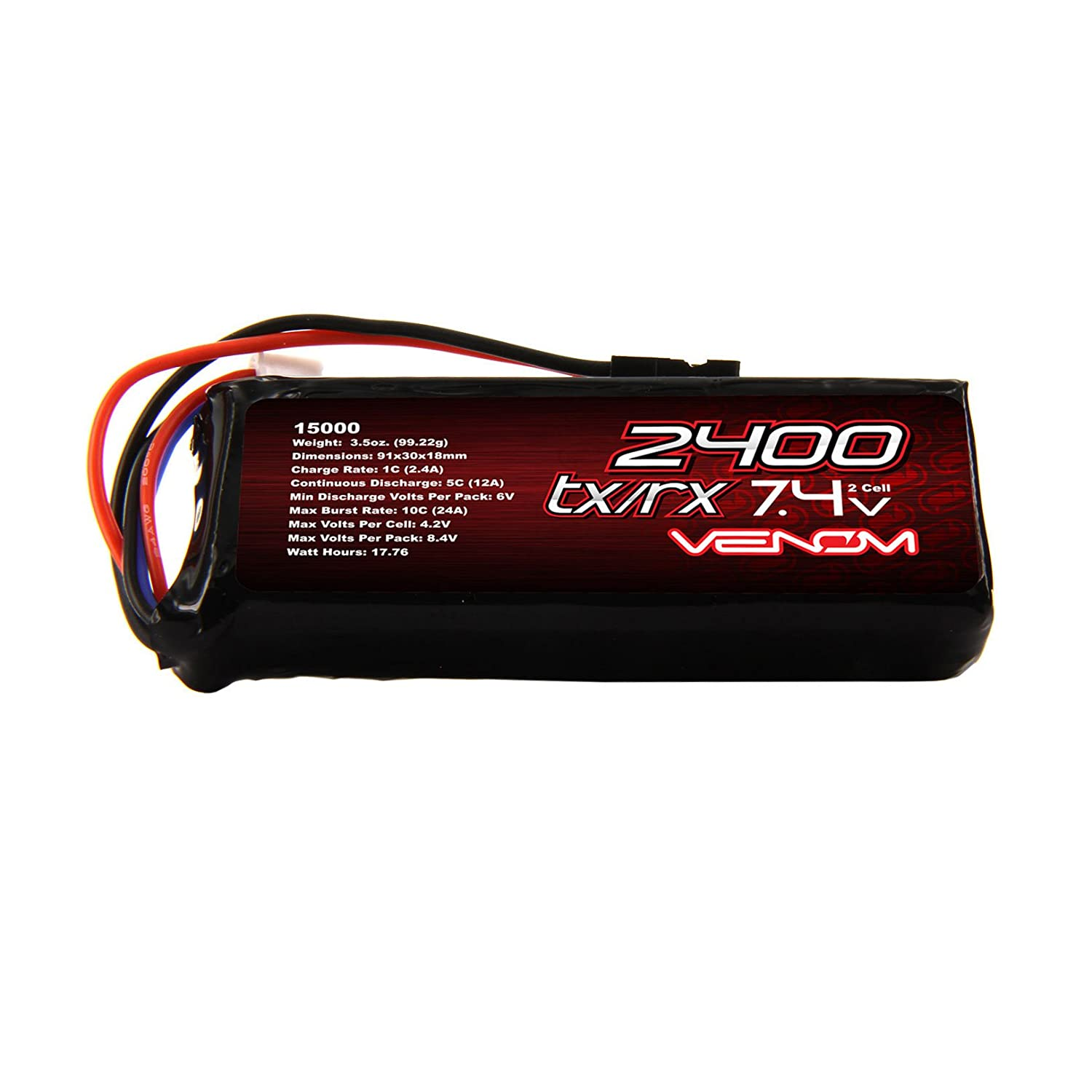 Venom 5c 2s 2400mah 74 Receiver Transmitter Flat Pack Lipo Battery How Can I Power The Es Series With 5 Volts Toys Games
