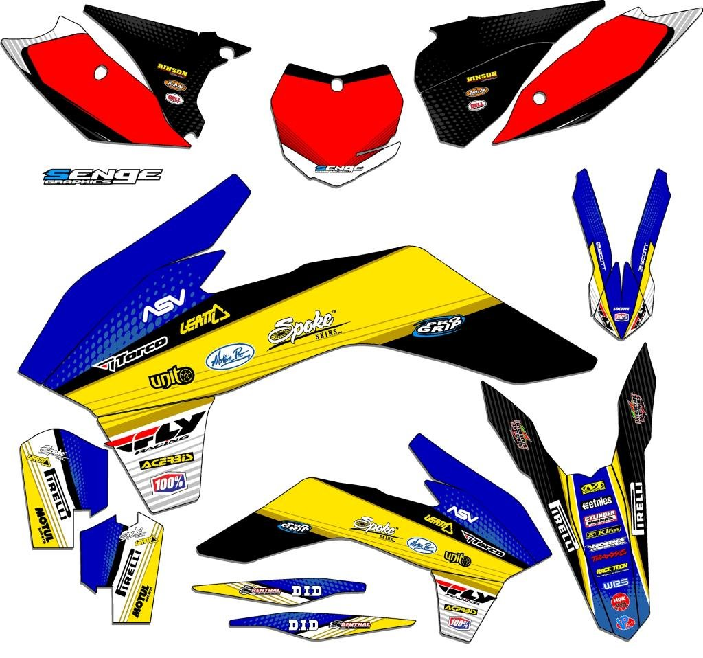 Senge Graphics 2009-2015 KTM SX 65, Ricochet Blue Graphics Kit