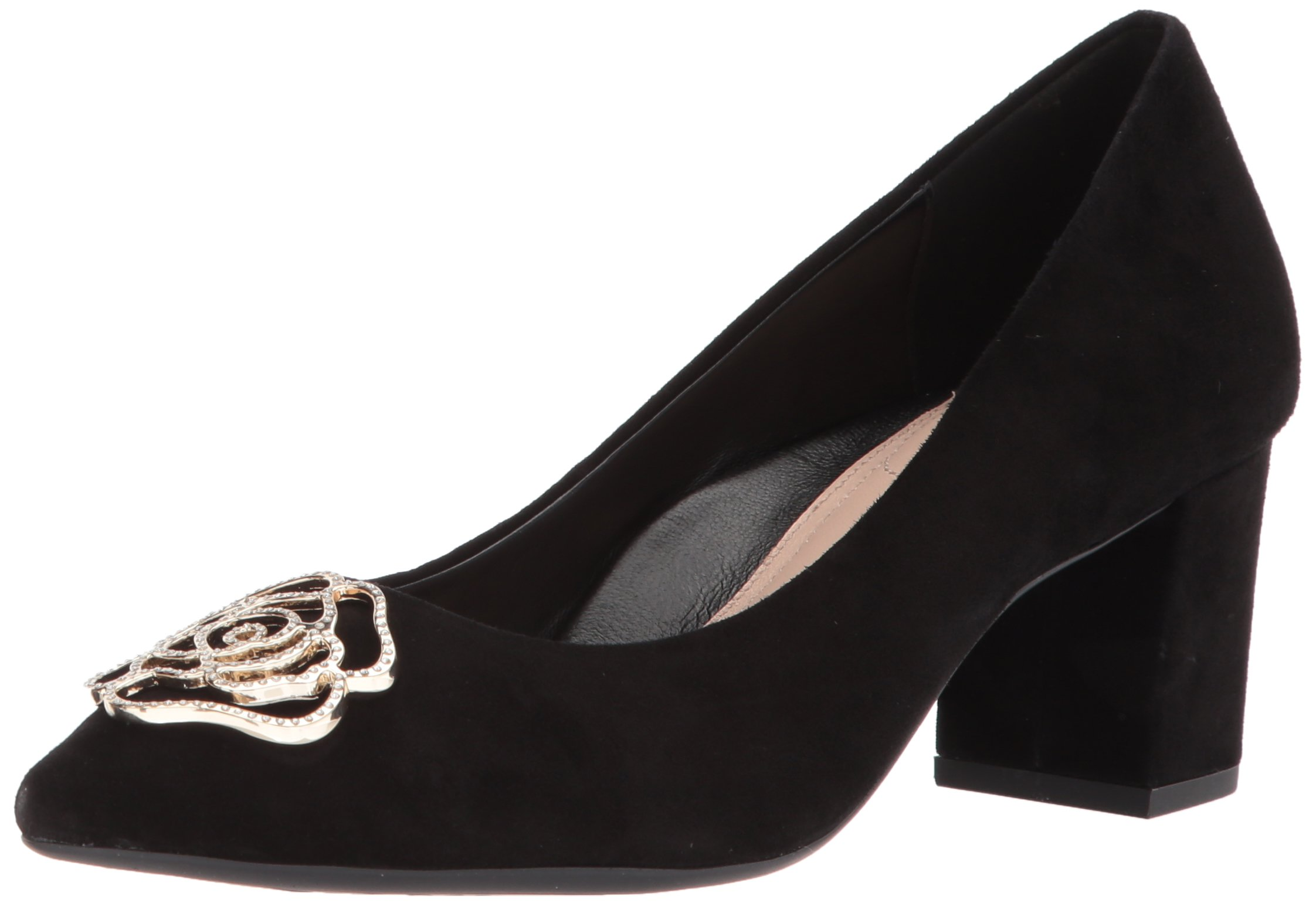 Taryn Rose Women's Maci Silky Suede Pump, Black, 8.5 M M US