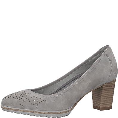 Tamaris Damen Pumps grau Leder von Größe 36 bis 41 mit
