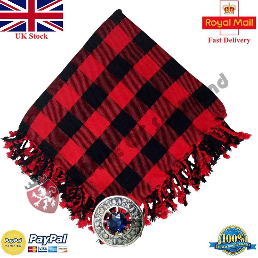 Amazon com: Scottish Kilt Fly Plaid Rob Roy Tartan Acrylic 48