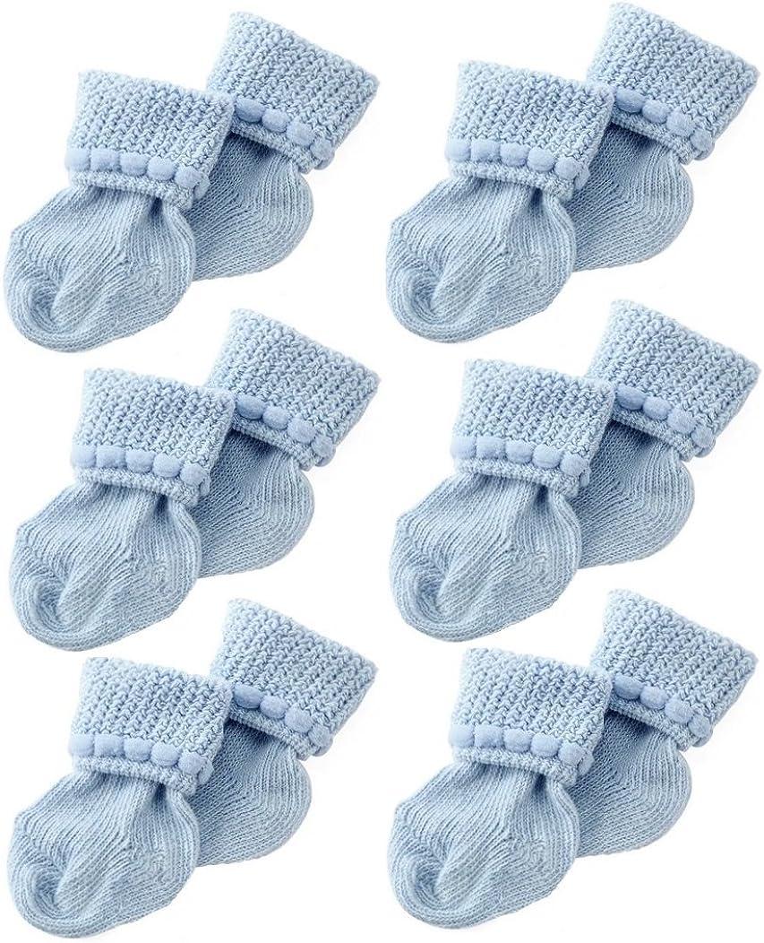 baby socks grid blue