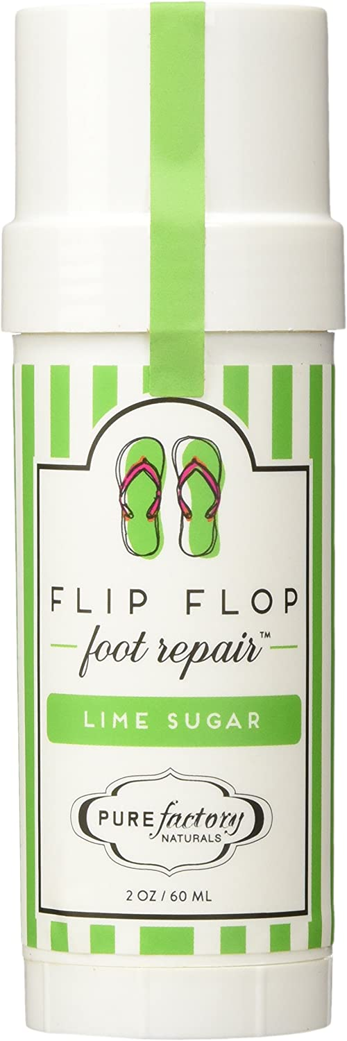 Flip Flop Foot Repair by PURE Factory - Lime Sugar 2 oz. Moisturizer Feet
