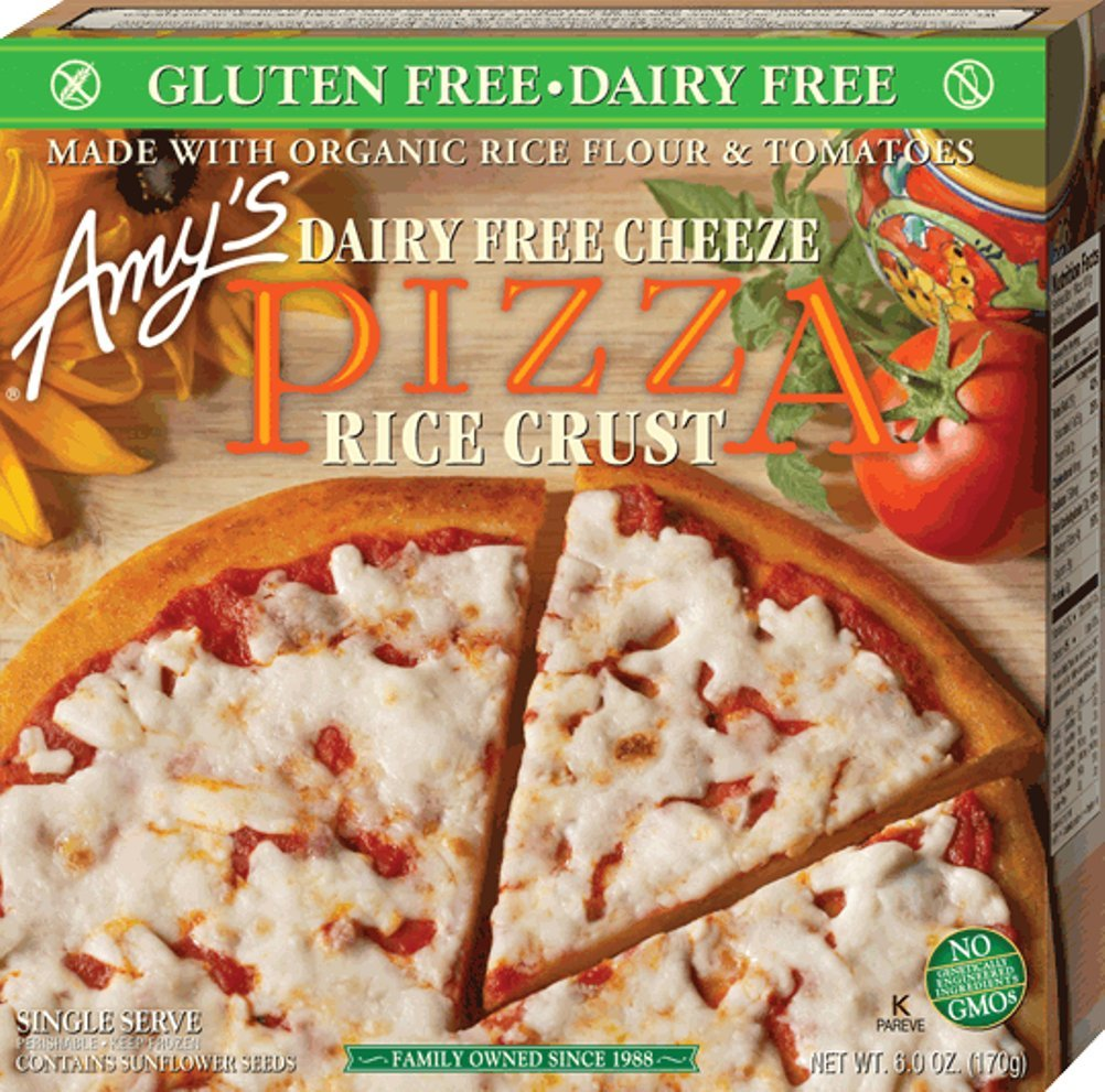 Amy's Gluten Free Pizza, Dairy Free Cheeze, 6 Ounce (Frozen) by Amy's