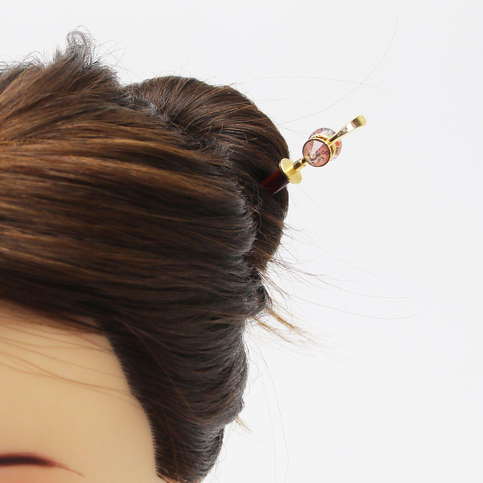 Tamarusan Hair Pin Wooden Plum Green Decoration Removal Hair Stick by TAMARUSAN (Image #5)
