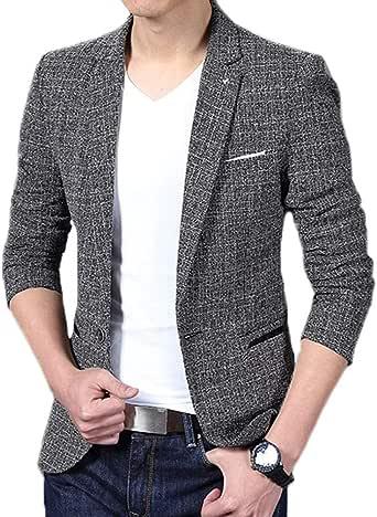 Blazer Hombre Elegantes Moda Estrecho Camisa Abrigos