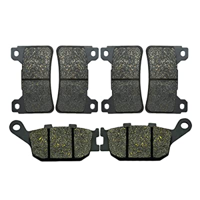 AHL Front & Rear Brake Pads Set for Honda CBR600RR CBR600 RR 2005-2006 (Semi-metallic): Automotive