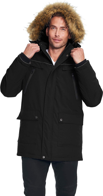 Alpine North Mens Vegan Down Winter Puffer Coat Down Alternative