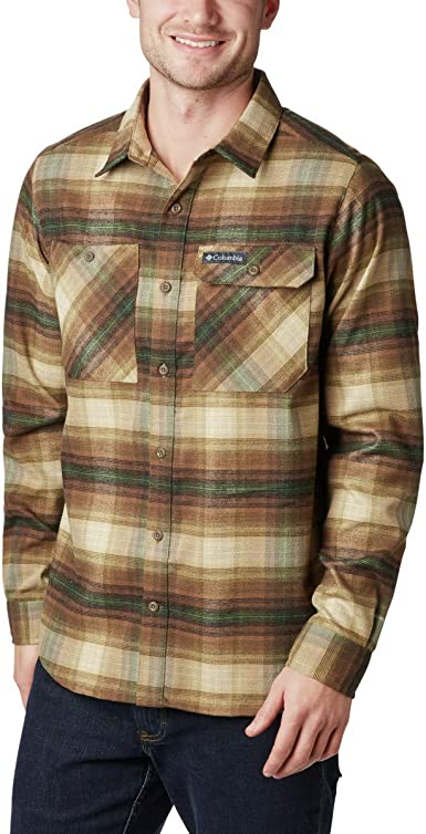 Columbia Camisa de Franela elástica para Hombre: Amazon.es: Ropa y accesorios