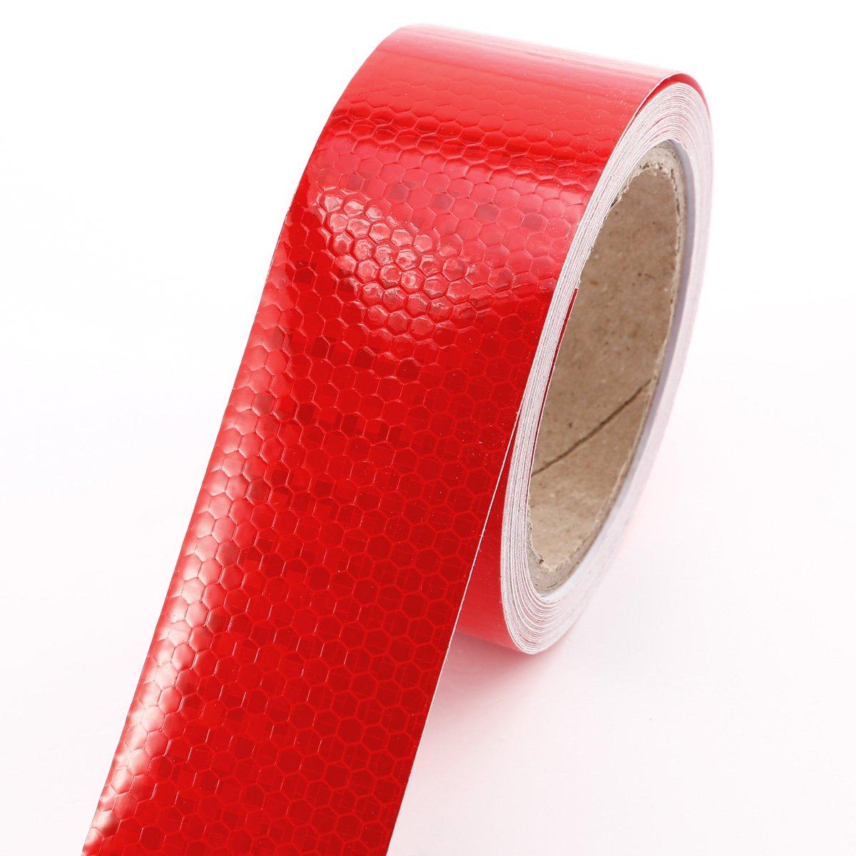 10m x 5cm ruban autocollant bande réfléchissant lumière rouge