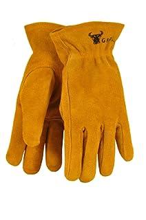 d84a5c61c4538 G & F 5013M JustForKids Kids Genuine Leather Work Gloves, Kids Garden Gloves,  4